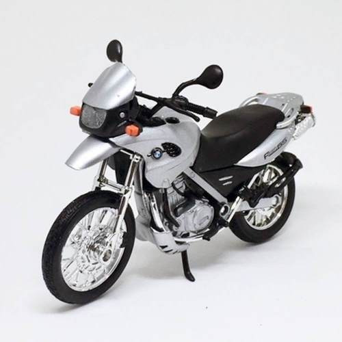 Miniatura Moto Bmw F650 Gs Prata 1:18 Welly 060433
