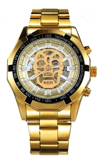Relógio De Pulso Masculino Winner Esqueleto Automático