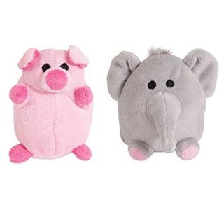 Juguete Para Perro Zoobilee 32023 Mini Elephant & Pig Dog To