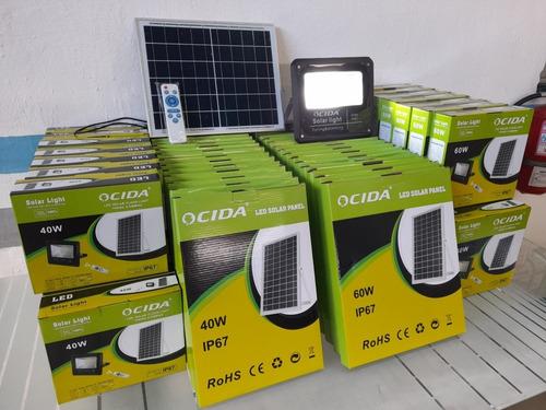 Reflectores Panel Solar Control Remoto 40w Y 60watt