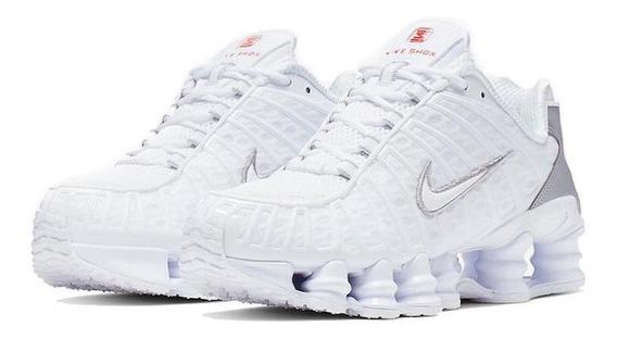 Nike Shox Tel Ahité/metallic Silver