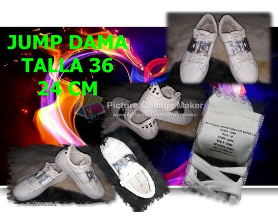 Zapatos Deportivos Jump Blancos Dama. Talla 36. Seguro 15 Tr