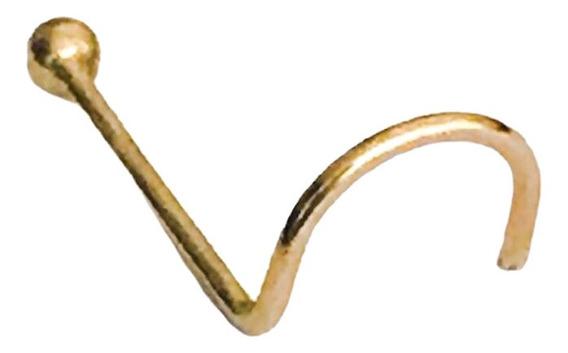 Piercing De Nariz Bolinha 1,5mm Em Ouro 18k A Vista