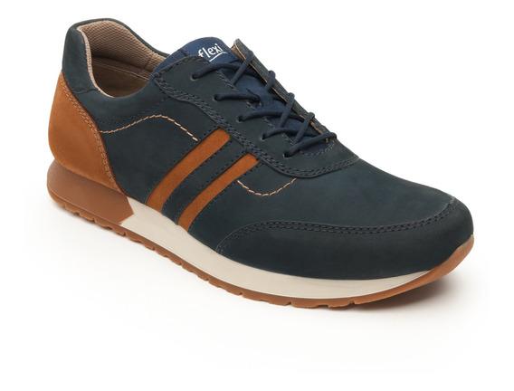 Sneaker Universitario Flexi Caballero 403103 Azul