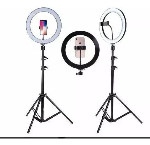 Ring Light Completo Tripé 1,60 Suporte De Celular E Câmera