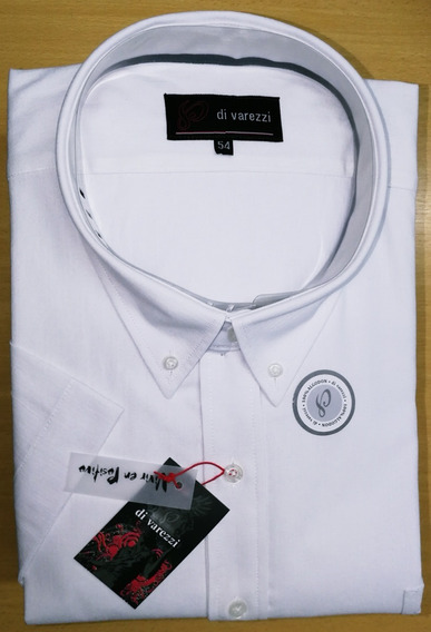 Camisa Manga Corta Especial Talle 54 Celeste Muy Buena Calid
