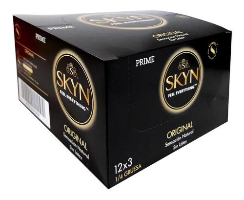 Preservativos Prime Skyn 12x3 Sin Latex 36 Unidades Calor