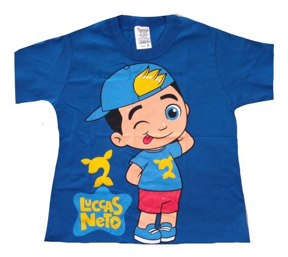 Kit 10 Camiseta Infantil Lucas Neto E Herois Atacado Algodão