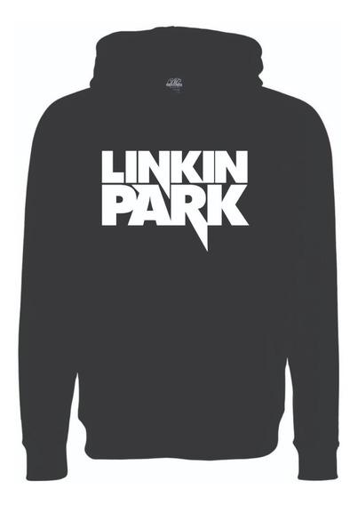 Sudadera Linkin Park Logo Nuevo Rock Con Gorro