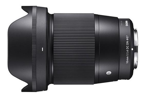 Sigma Lente 16mm F1.4 Dc Dn Contemporary / Sony E (msi)