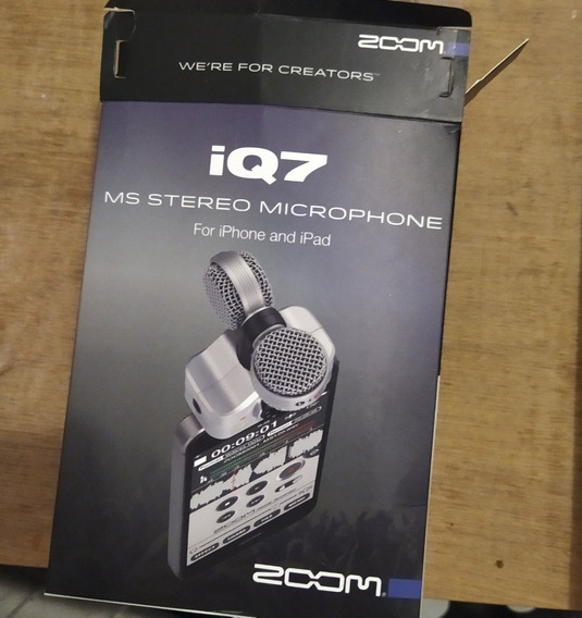 Zoom Iq7 Microfone Estéreo Para iPhone E iPad