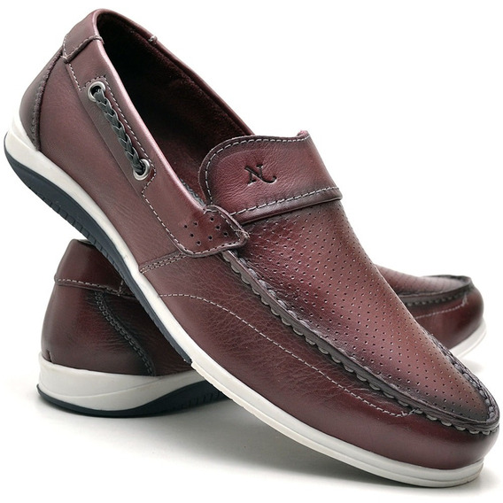 Sapato Casual Mocassim Nevano Masculino 5403 Bordo/vinho