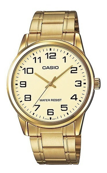 Relógio Casio Masculino Analógico Dourado Original Barato