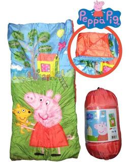 Bolsa De Dormir De Peppa Pig Camping Licencia Oficial