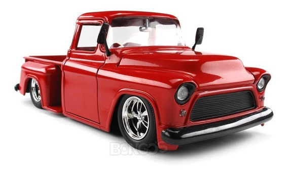 Chevy Pick-up Stepside 1955 1:24 Na Caixa
