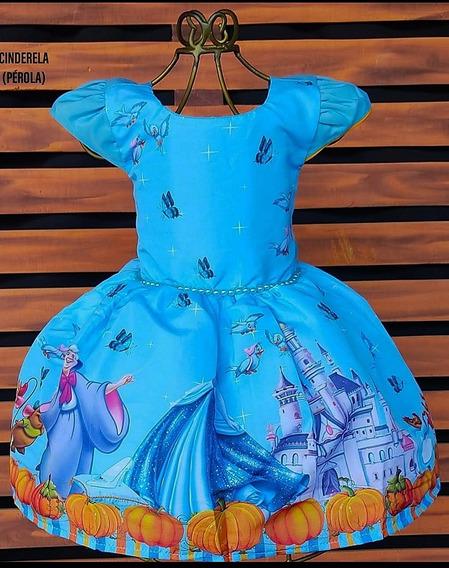 Vestido Cinderela Luxo Festa Aniversario