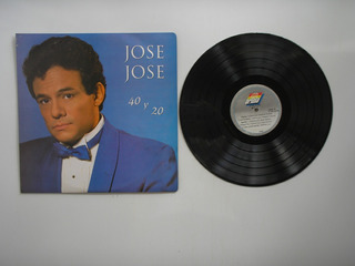 Lp Vinilo Jose Jose Cuarenta Y Viente Edicion Colombia 1992