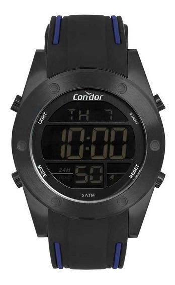 Relógio Condor Masculino Digital Cobj3463ag/2p Preto Aço