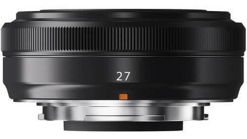 Lente Fujifilm Xf 27mm F/2.8 Preta