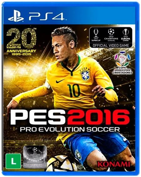 Pes 2016 Ps4 Pro Evolution Lacrado Fabrica Original Promocao