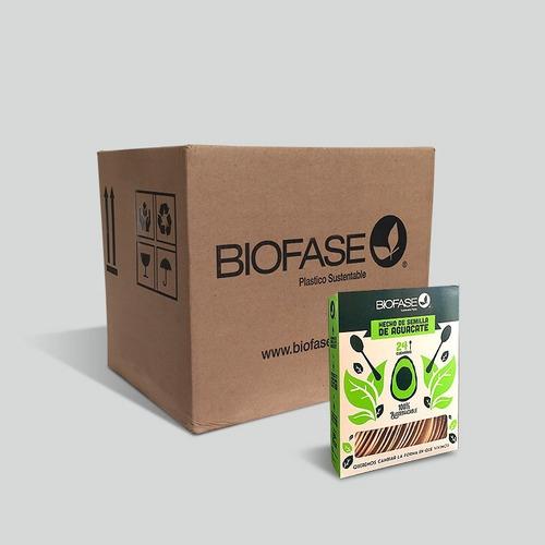 Cucharas Biofase® Biodegradables A Base De Aguacate.