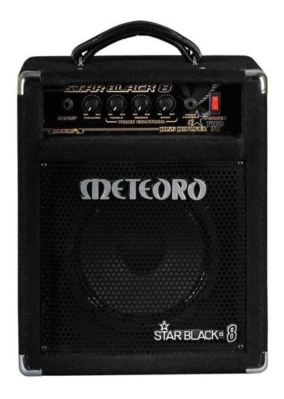 Amplificador Meteoro Star Black 8 30W transistor preto 110V/220V