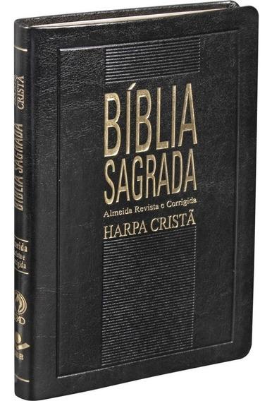 Biblia Sagrada C/ Harpa Cristã | Slim | Preta - Arc