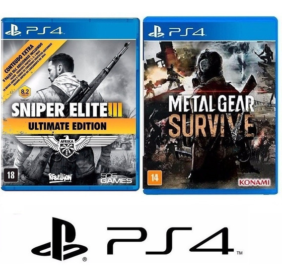 Sniper Elite Iii 3 + Metal Gear Survive - Midia Fisica - Ps4