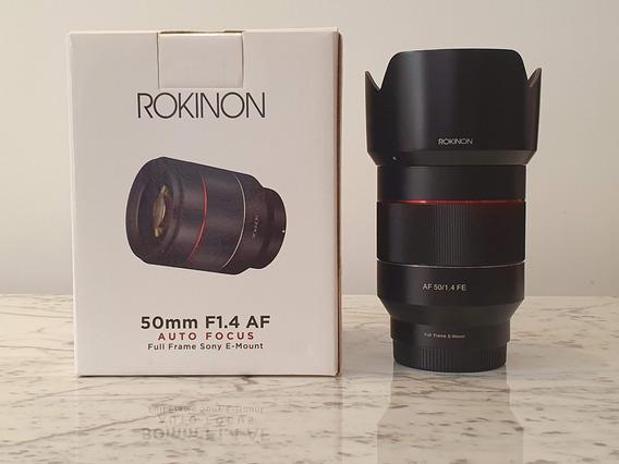 Lente Rokinon 50mm 1.4 Auto Foco Para Sony Mirrorless