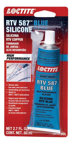 Formador Juntas Loctite 587 Silicón Rtv Azul 80 Ml 12 Pz