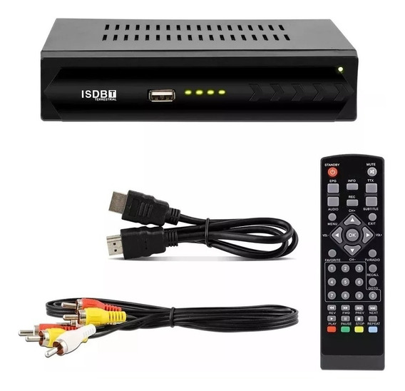 Conversor De Tv Digital Sinal Isdb-t Top Box Usb Gravador
