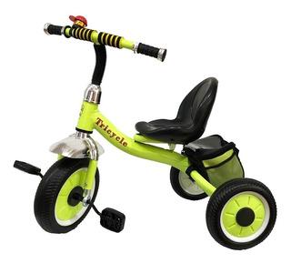 Triciclo Infantil Reforzado Rueda Maciza Canasto Bebe Niños