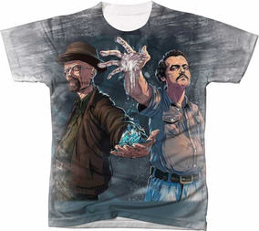 Camisa Camiseta Pablo Esobar Narcos Breaking Bad Heisenberg