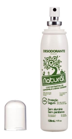 Desodorante Natural Extratos De Camomila E Erva Cidreira