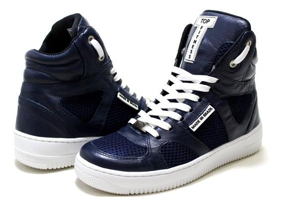 Sneakers Fitness Couro Legitimo Academia Ginastica Dança Rit