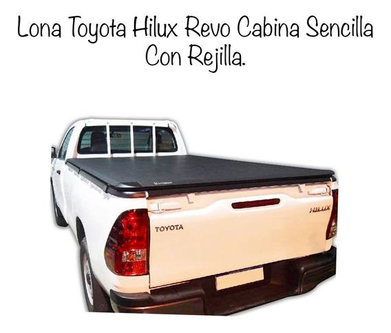Lona Toyota Hilux Revo Cabina Sencilla Con Rejilla.
