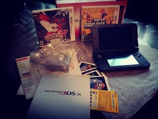 Nintendo 3ds Xl Roja + Pokémon Y & New Super Mario Bros 2.