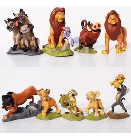 O Rei Leão Disney Kit Com 9 Bonecos Simba Nala- Promoção!