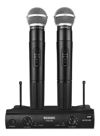 Microfone Sem Fio - Kit Com 2