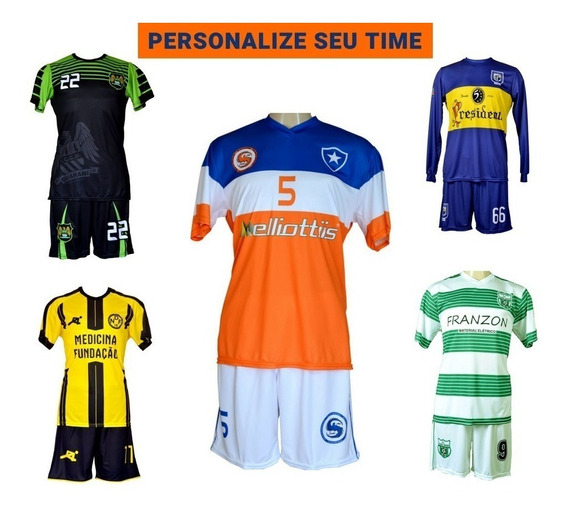 Uniforme Esportivo Personalizado Camisetas+shorts - 25 Pçs