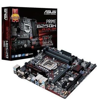 Placa-mãe Asus Prime B250m-plus/br, Intel Lga 1151, Matx