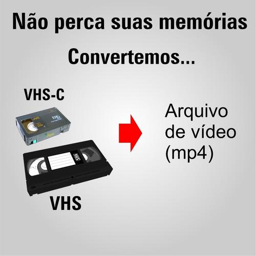 Imagem 1 de 1 de Conversão Fita Vhs Para Mp4 / Pendrive