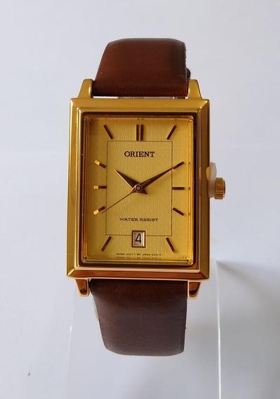 Relógio Orient Couro Marrom 28mm Original Wlnaxa0a