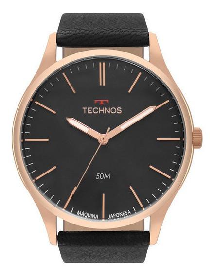 Relógio Technos Masculino Social De Couro 2035mqg-2p