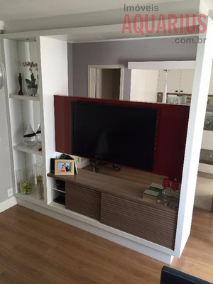 Apartamento No Aquarius, Pátio Condomínio Clube, 90 M2, 2 Suítes, Todo Decorado! - Ap0374