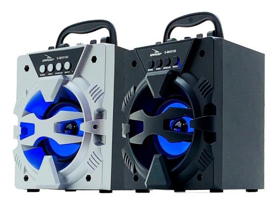 Kit 2 Caixa Som Bluetooth Portátil Rádio Fm Mp3 Usb Sd 300w