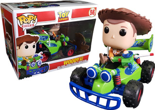 Funko Pop Woody With Rc #56 Toy Story Rides