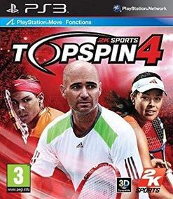 Jogo Top Spin 4 Playstation 3 Ps3 Mídia Física Tênis Game