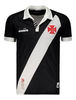 Camisa Do Vasco Da Gama Preta 2020 Diadora Home