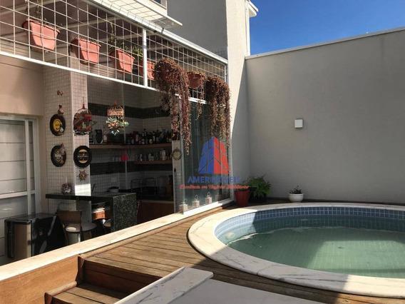 Cobertura Com 3 Dormitórios À Venda, 176 M² Por R$ 980.000 - Residencial Convivere - Jardim São Paulo - Americana/sp - Ap0875